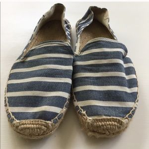Blue and White Striped Soludos